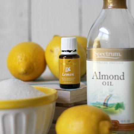 How to Make Lemon Sugar Scrub: Ingredients