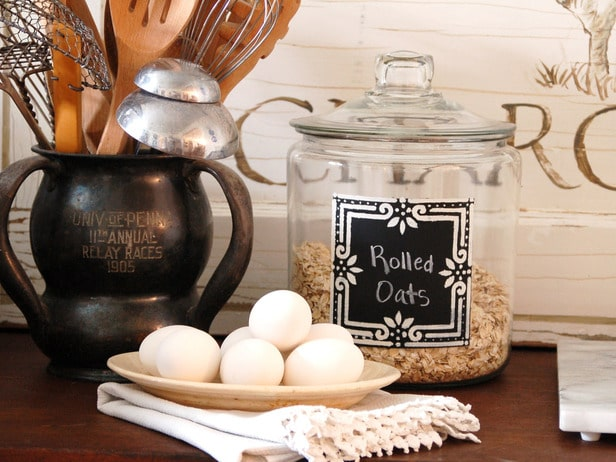 Kitchen Chalkboard Canisters