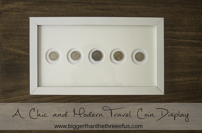Chic and Modern Travel Coin Display