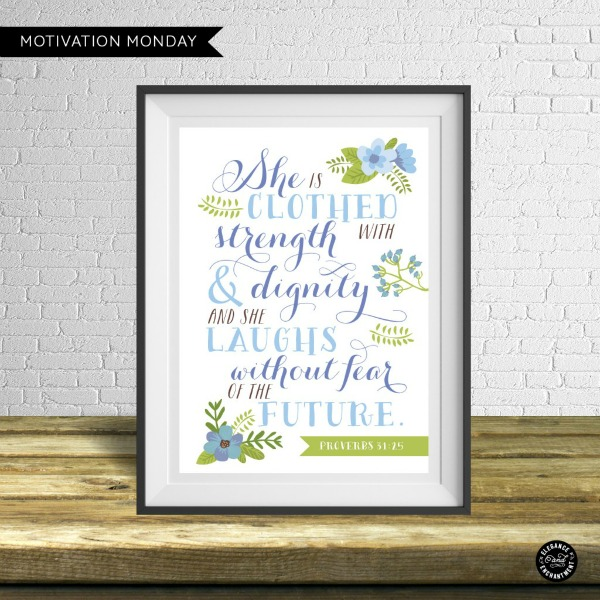 Proverbs 31:25 Free Printable