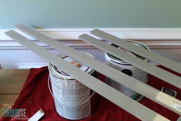 DIY Stamped Wall Art | Frame Prep