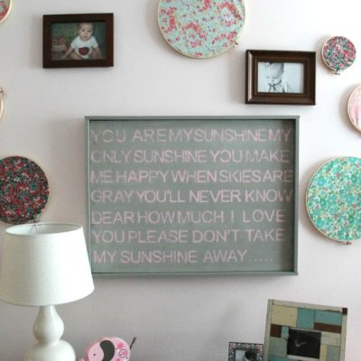 "DIY Stamped Wall Art | ""You Are My Sunshine"""