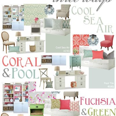 One Room … Three Ways {Guest Bedroom and Office Inspiration Boards}