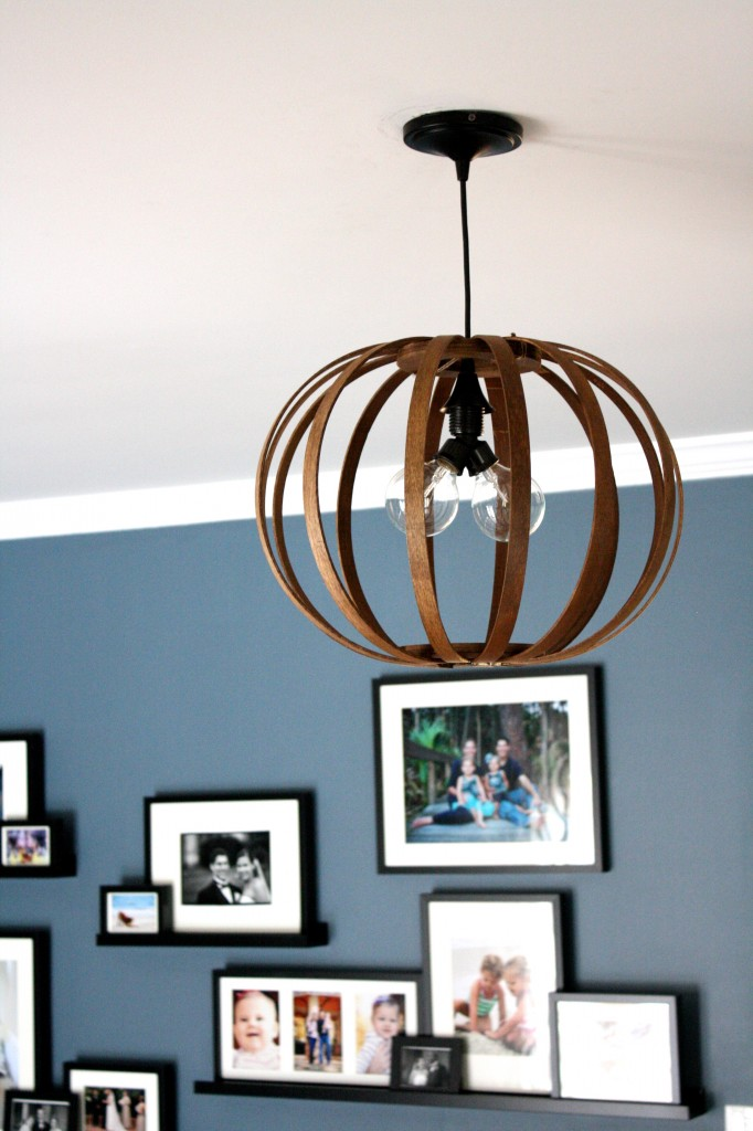 DIY Bentwood Pendant Light