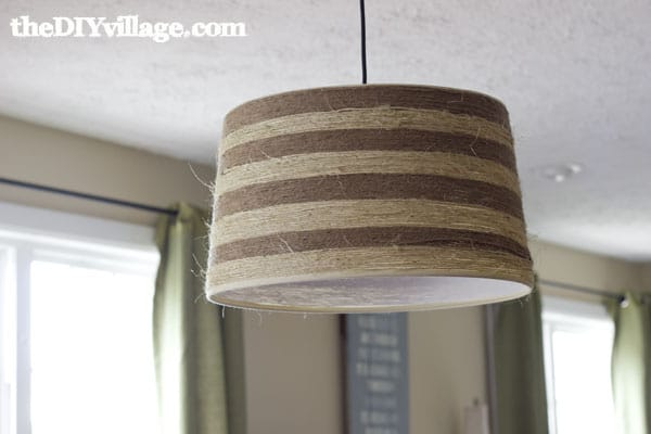Jute Wrapped Drum Shade