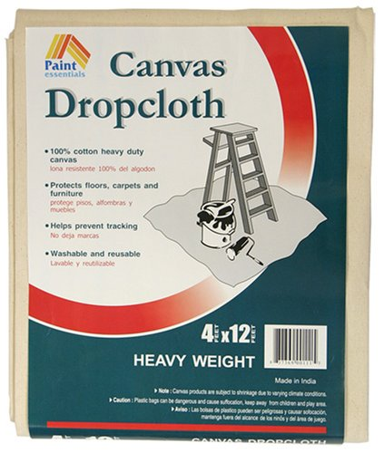 Painting tip: use a canvas drop cloth!