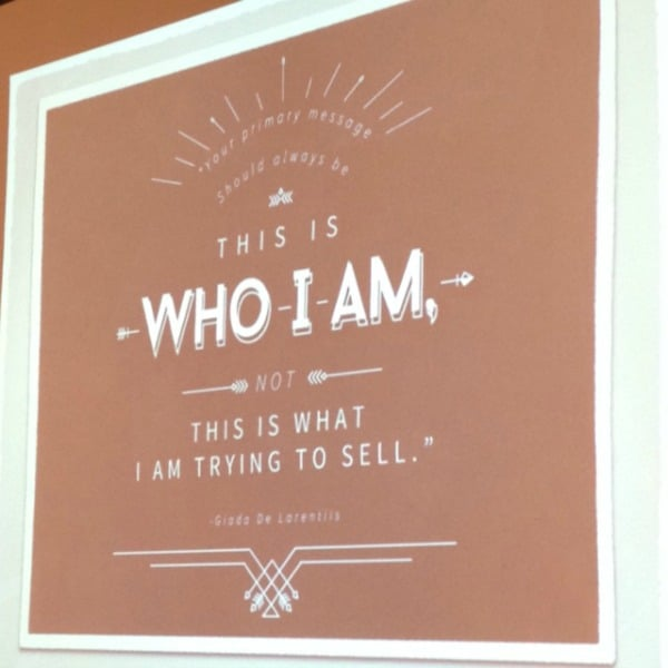 Who I Am. Quote from Giada De Laurentiis