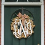 Wooden Monogram Wreath