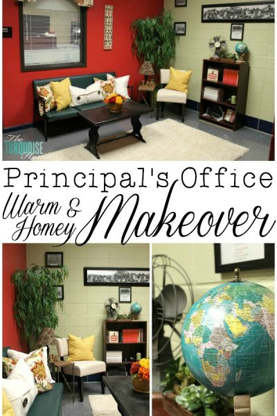 The Principal's Office: A Warm and Homey Makeover | TheTurquoiseHome.com
