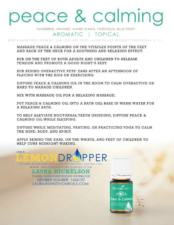 11 Amazing Uses Of Peace Amp Calming Essential Oil Amp A