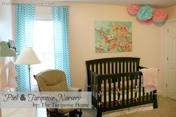 Pink and Turquoise Nursery