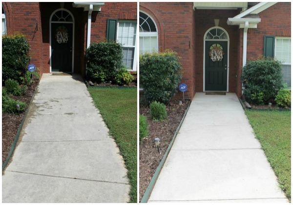 Front Sidewalk Before and After