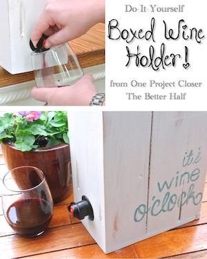 DIY Pallet Wine Box