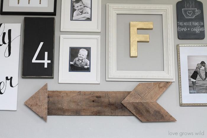 DIY Wood Pallet Arrow