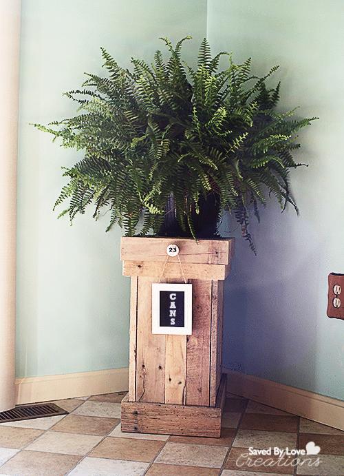 Wood Pallet Recycle Bin