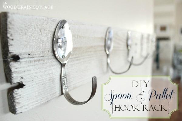Pallet Spoon Hook Rack