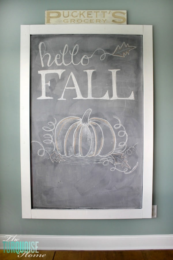 hello fall chalkboard art theturquoisehomecom - Chalkboard Designs Ideas