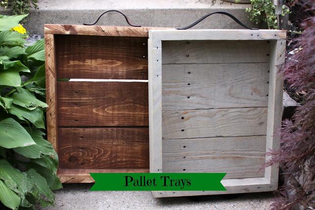 DIY Pallet Trays