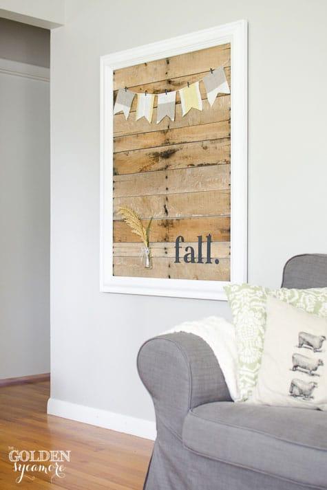 Framed Pallet Backdrop