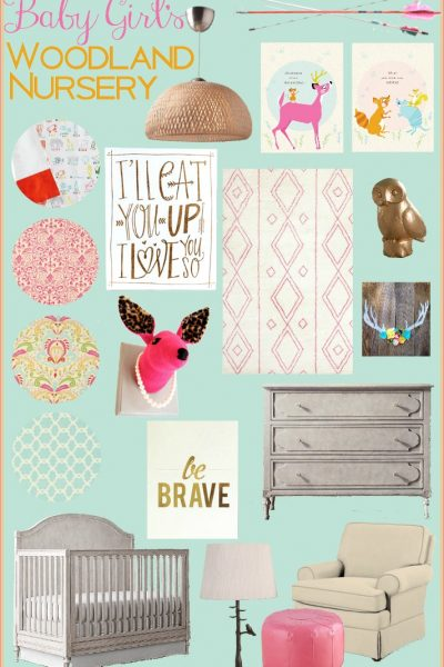 Baby Girl's Woodland Nursery Inspiration Board