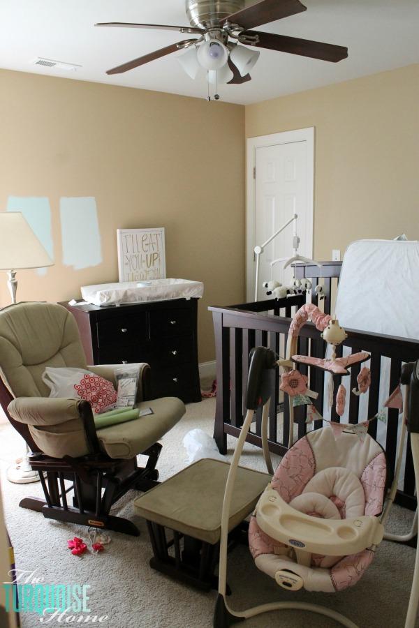 Benjamin Moore Lido Green | Baby Girl's Nursery | TheTurquoiseHome.com
