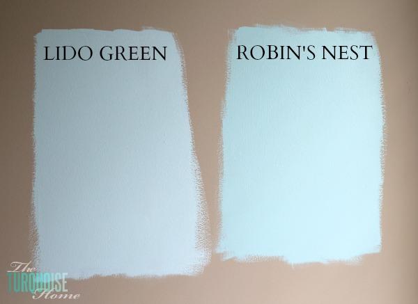 Benjamin Moore Lido Green and Robin's Nest | Baby Girl's Nursery | TheTurquoiseHome.com