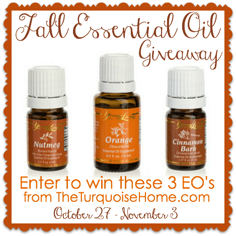 Fall Essential Oils Giveaway | TheTurquoiseHome.com