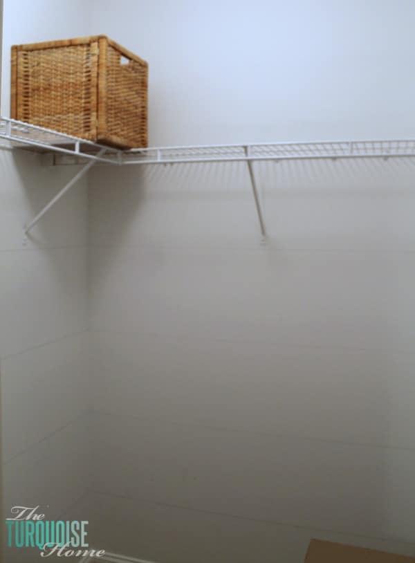 How to Install Custom Closet Shelves | TheTurquoiseHome.com