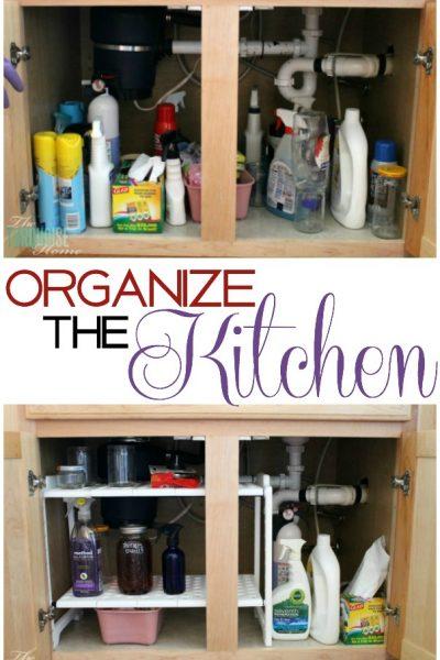 Kitchen Organization Supplies   TheTurquoiseHome.com
