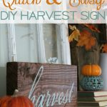 Quick and Easy DIY Harvest Sign