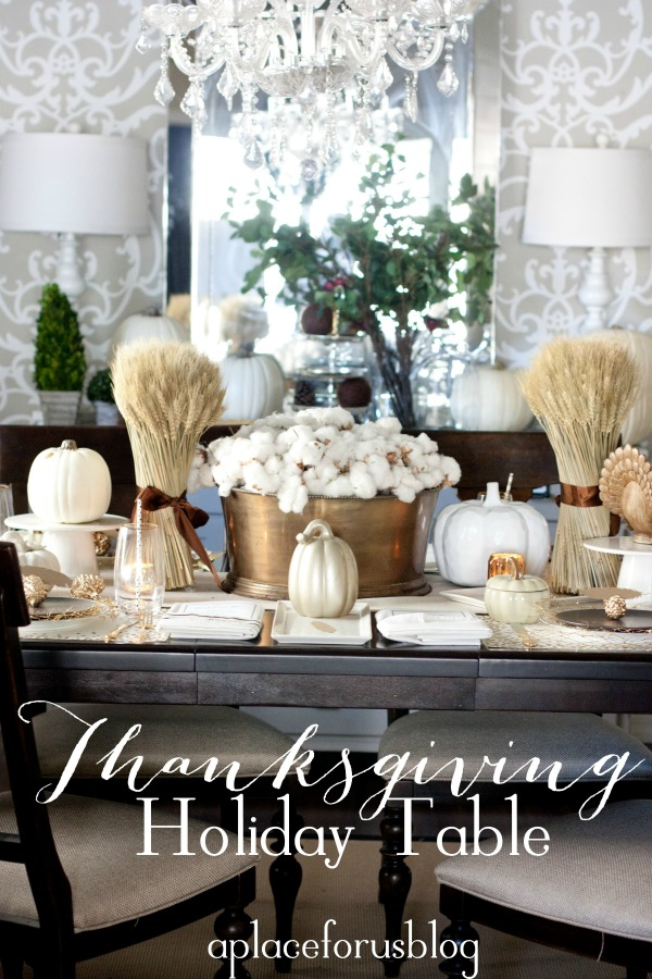 Tablescapes 27 gorgeous thanksgiving tablescapes | the turquoise home