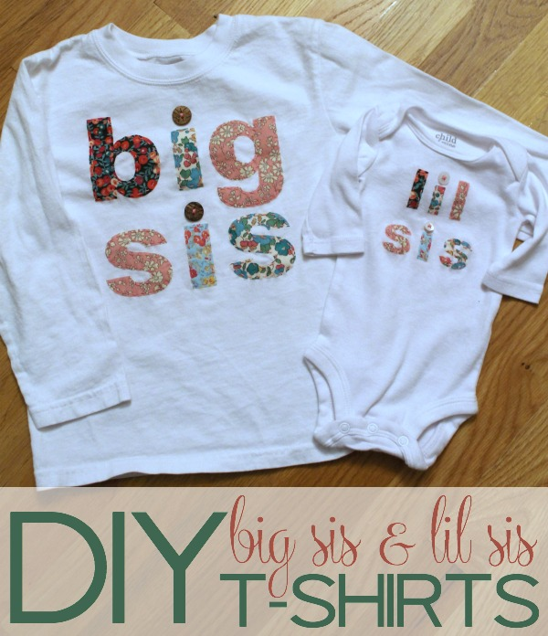 DIY Big Sis and Lil Sis T-shirts