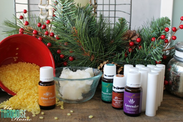 "Using just three simple ingredients and a couple of minutes of your time, you can have homemade, all-natural lip balms to give away as gifts or keep for yourself. LOVE these as stocking stuffers or a gift anytime ""just because."" 