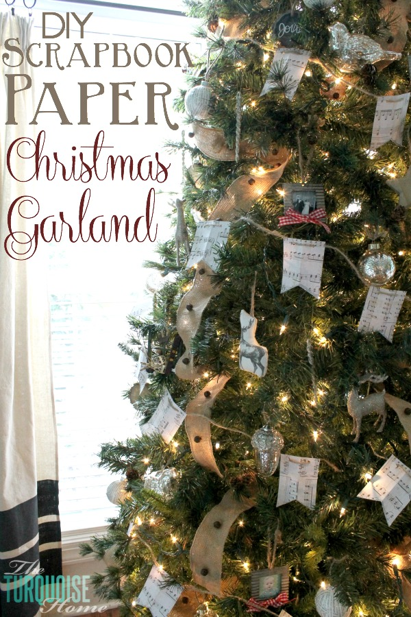 what a simple and easy way to fill a large christmas tree both festive and - How To Decorate A Christmas Garland