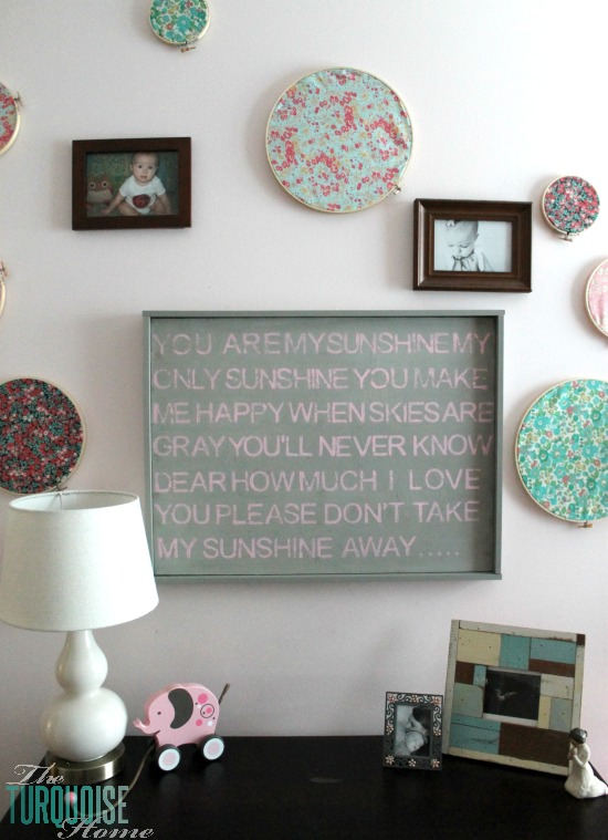 Choose any verse or quote and stamp it on a canvas for a personalized gift they will love!! DIY Stamped Wall Art | TheTurquoiseHome.com