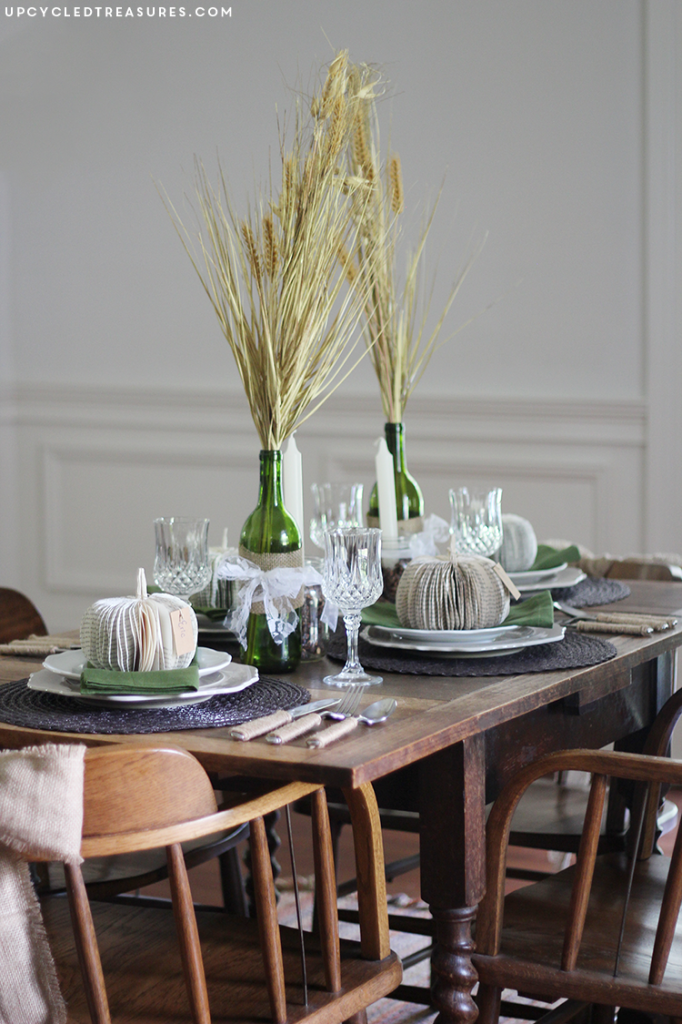27 Gorgeous Thanksgiving Tablescapes | Thrifted Rustic and Romantic Tablescape