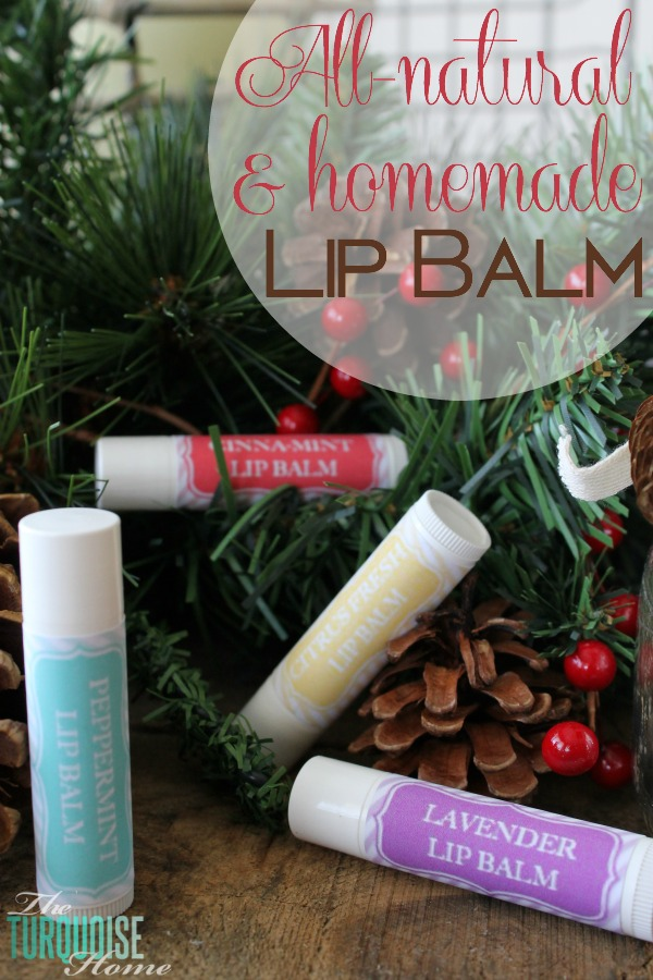 All-Natural Homemade Lip Balm | TheTurquoiseHome.com