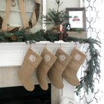 Simple Burlap Christmas Mantel {and a baby story}