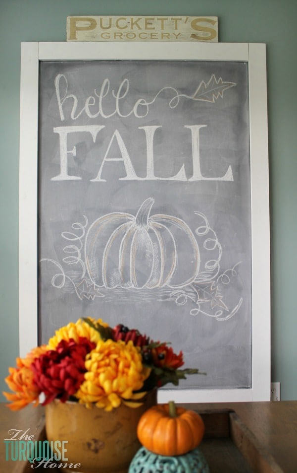 Hello Fall Chalkboard Art | 11 Ways to Add Fall to Your Home