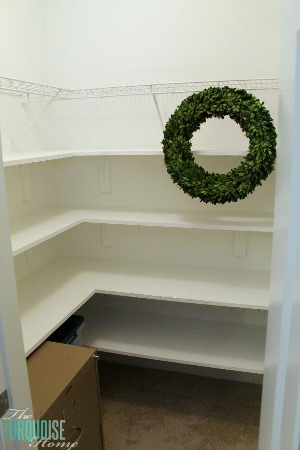 How to Install Closet Shelves | TheTurquoiseHome.com