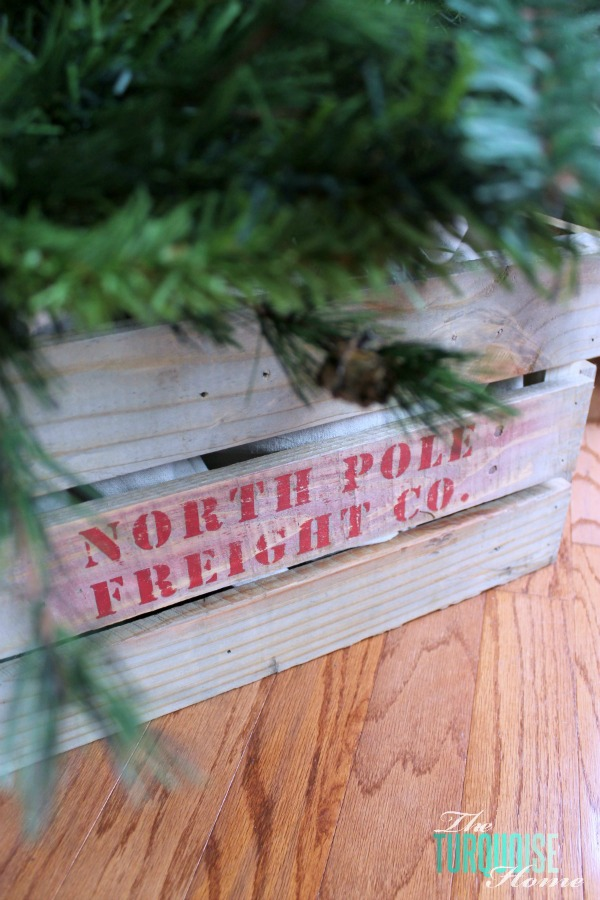 How to Build a Crate (and use it as a Christmas tree base) | TheTurquoiseHome.com
