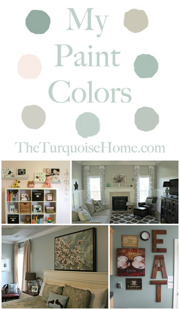 Paint Colors in My Home | TheTurquoiseHome.com