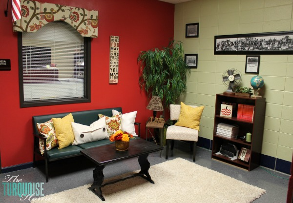 Principal's Office Makeover | TheTurquoiseHome.com