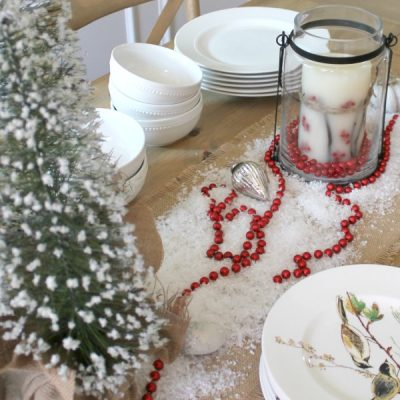 Christmas Decorating in the Dining Room {and a rustic glam Christmas tree}