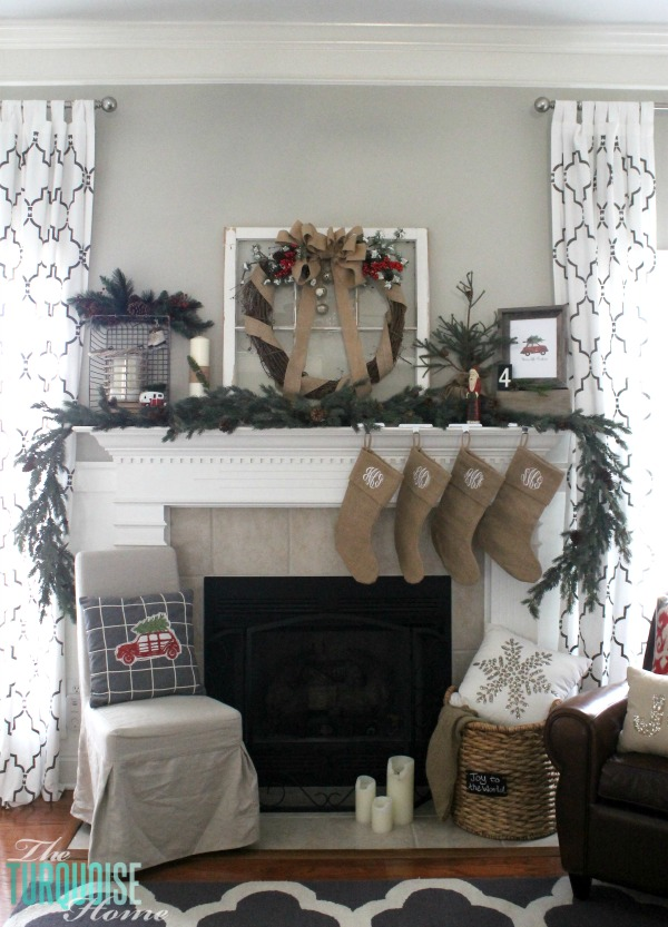 Simple Rustic and a little glam Christmas