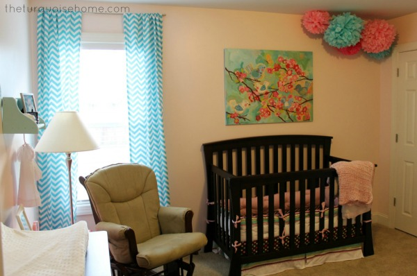 Miss A's Pink and Turquoise Nursery | TheTurquoiseHome.com