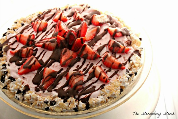 Choc Covered Strawberries Ice Cream Pie