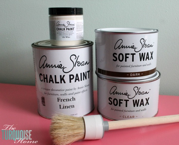 Annie Sloan French Linen and Old White Chalk Paint | TheTurquoiseHome.com