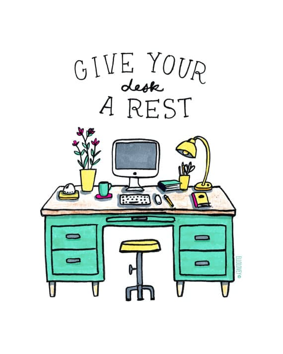 Give Your Desk a Rest | TheTurquoiseHome.com