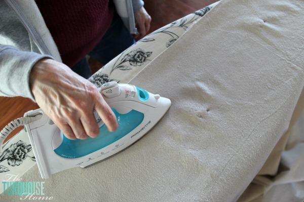 DIY Painted Drop Cloth Rug | TheTurquoiseHome.com